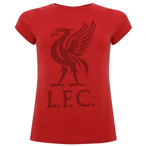 Liverpool FC Liverbird T Shirt Ladies Red 10