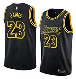 Men's Los Angeles Lakers Lebron James Nike Black Mamba Edition Swingman Jersey