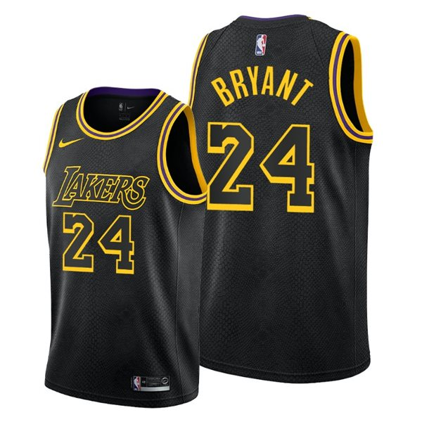Men's Los Angeles Lakers NO. 24 Kobe Bryant Nike Black Mamba Edition Swingman Jersey