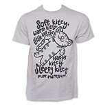 BIG BANG THEORY Soft Kitty Song Light Grey Graphic TShirt