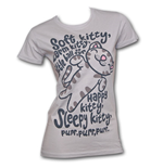 BIG BANG THEORY Soft Kitty Song Grey Juniors Graphic T-Shirt
