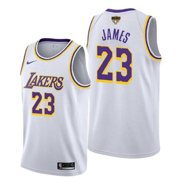 Men's Los Angeles Lakers Lebron James Nike White Association Edition Swingman 2020 NBA Finals Jersey