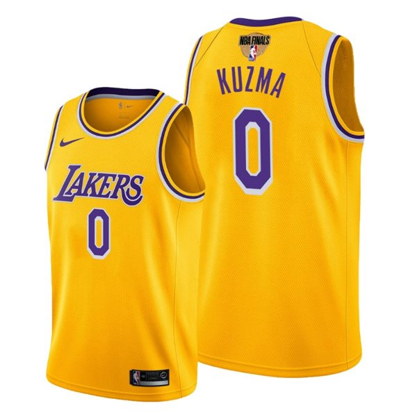 Men's Los Angeles Lakers Kyle Kuzma Nike Yellow Icon Edition Swingman 2020 NBA Finals Jersey