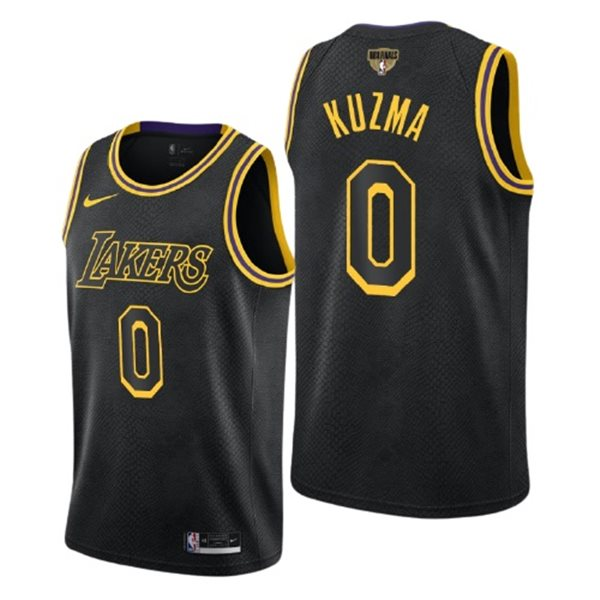 Men's Los Angeles Lakers Kyle Kuzma Nike Black City Edition Swingman 2020 NBA Finals Jersey