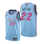 Men's Miami Heat Jimmy Butler Nike Blue City Edition Swingman 2020 NBA Finals Jersey