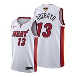 Men's Miami Heat Bam Adebayo Nike White Association Edition Swingman 2020 NBA Finals Jersey