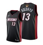 Men's Miami Heat Bam Adebayo Nike Black Icon Edition Swingman 2020 NBA Finals Jersey