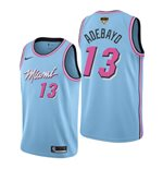 Men's Miami Heat Bam Adebayo Nike Blue City Edition Swingman 2020 NBA Finals Jersey