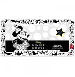 Disney Minnie Mouse Black And White License Plate Frame