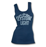 KEYSTONE LIGHT Logo Navy Blue Ladies Graphic Tank Top