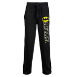 Batman Bold Symbol Over Text Outline Unisex Sleep Pants