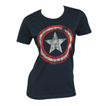 CAPTAIN AMERICA Shield Marvel Logo Costume Women's T-Shirt