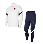 2020-2021 France Nike Dry Strike Tracksuit (White) - Kids
