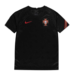 2020-2021 Portugal Pre-Match Training Shirt (Black) - Kids