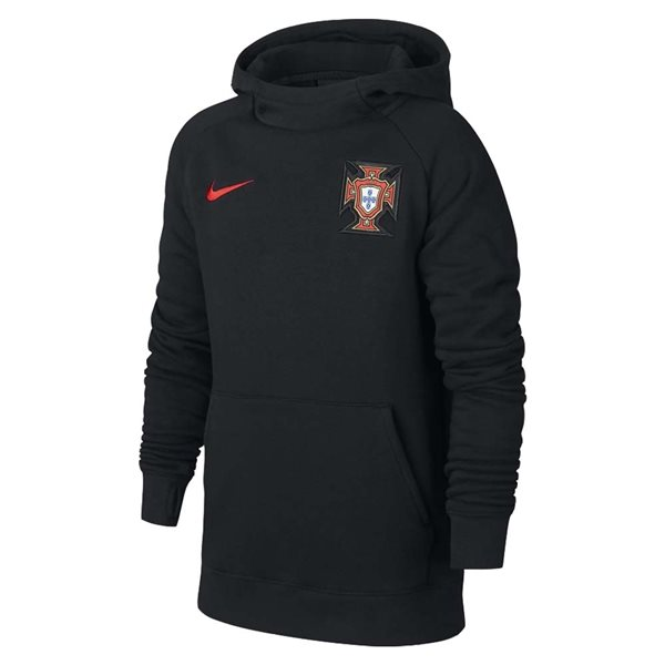 2020-2021 Portugal Core Hooded Top (Black) - Kids