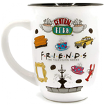Friends Iconic Logos Wide Rim 16 Ounce Mug