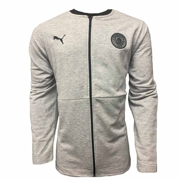 2020-2021 Man City Casuals Jacket (Light Grey)