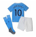 2020-2021 Manchester City Home Little Boys Mini Kit (Your Name)
