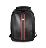 "Ferrari On Track Backpack 15"" With Usb Connector For Powerbank Black"