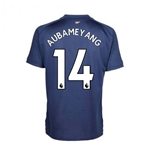 2020-2021 Arsenal Adidas Training Shirt (Indigo) - Kids (AUBAMEYANG 14)