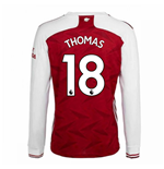 2020-2021 Arsenal Adidas Home Long Sleeve Shirt (THOMAS 18)