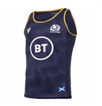 2020-2021 Scotland Poly Dry Gym Singlet (Navy)