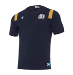 2020-2021 Scotland Official Travel Polycotton Shirt (Navy)