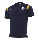 2020-2021 Scotland Official Polycotton Polo Shirt (Navy)