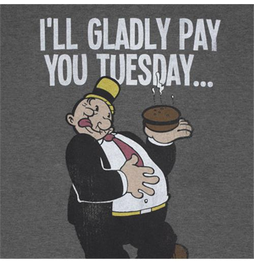 Buy Official Popeye Wimpy Pay You Tuesday Hamburger Tshirt Make Your Own Beautiful  HD Wallpapers, Images Over 1000+ [ralydesign.ml]