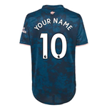 2020-2021 Arsenal Womens Third Shirt (Your Name)