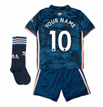 2020-2021 Arsenal Third Little Boys Mini Kit (Your Name)