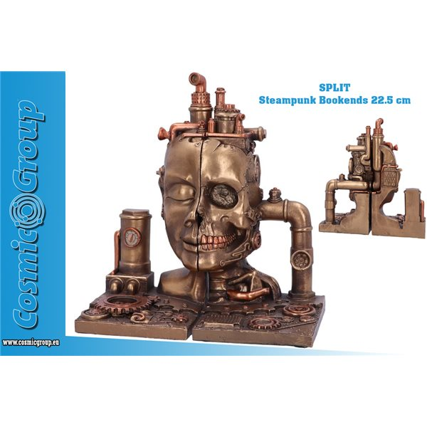 Split Steampunk Bookends Book End