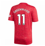 2020-2021 Man Utd Adidas Home Football Shirt (GREENWOOD 11)
