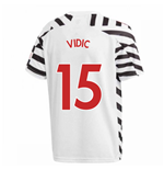 2020-2021 Man Utd Adidas Third Football Shirt (Kids) (VIDIC 15)
