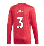 2020-2021 Man Utd Adidas Home Long Sleeve Shirt (EVRA 3)