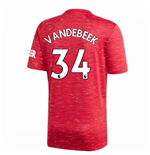 2020-2021 Man Utd Adidas Home Football Shirt (Kids) (VAN DE BEEK 34)