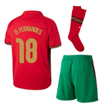 2020-2021 Portugal Home Nike Mini Kit (B Fernandes 18)
