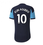2020-2021 Manchester City Training Shirt (Light Blue) - Kids (KUN AGUERO 10)