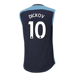 2020-2021 Manchester City Puma Sleeveless Shirt (Blue) (DICKOV 10)