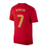 2020-2021 Portugal Nike Evergreen Crest Tee (Red) (RONALDO 7)