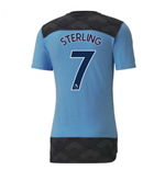 2020-2021 Manchester City Casuals Tee (Light Blue) - Kids (STERLING 7)