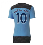 2020-2021 Manchester City Casuals Tee (Light Blue) - Kids (KUN AGUERO 10)