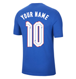 2020-2021 England Nike Evergreen Crest Tee (Blue) (Your Name)