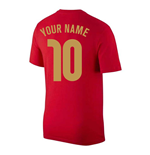 2020-2021 Portugal Nike Evergreen Crest Tee (Red) (Your Name)