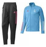 2020-2021 Real Madrid Tracksuit (Bright Cyan)