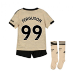 2019-2020 Man Utd Adidas Away Little Boys Mini Kit (FERGUSON 99)
