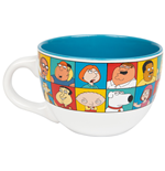 Family Guy Character Grid 24 Ounce Ceramic Soup Mug
