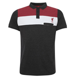 Liverpool FC Colour Block Polo Mens Charcoal S