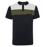 Liverpool FC Colour Block Polo Mens Navy S