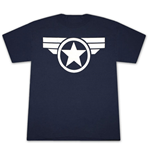 CAPTAIN AMERICA Good Ol Steve Logo Navy Blue Graphic TShirt